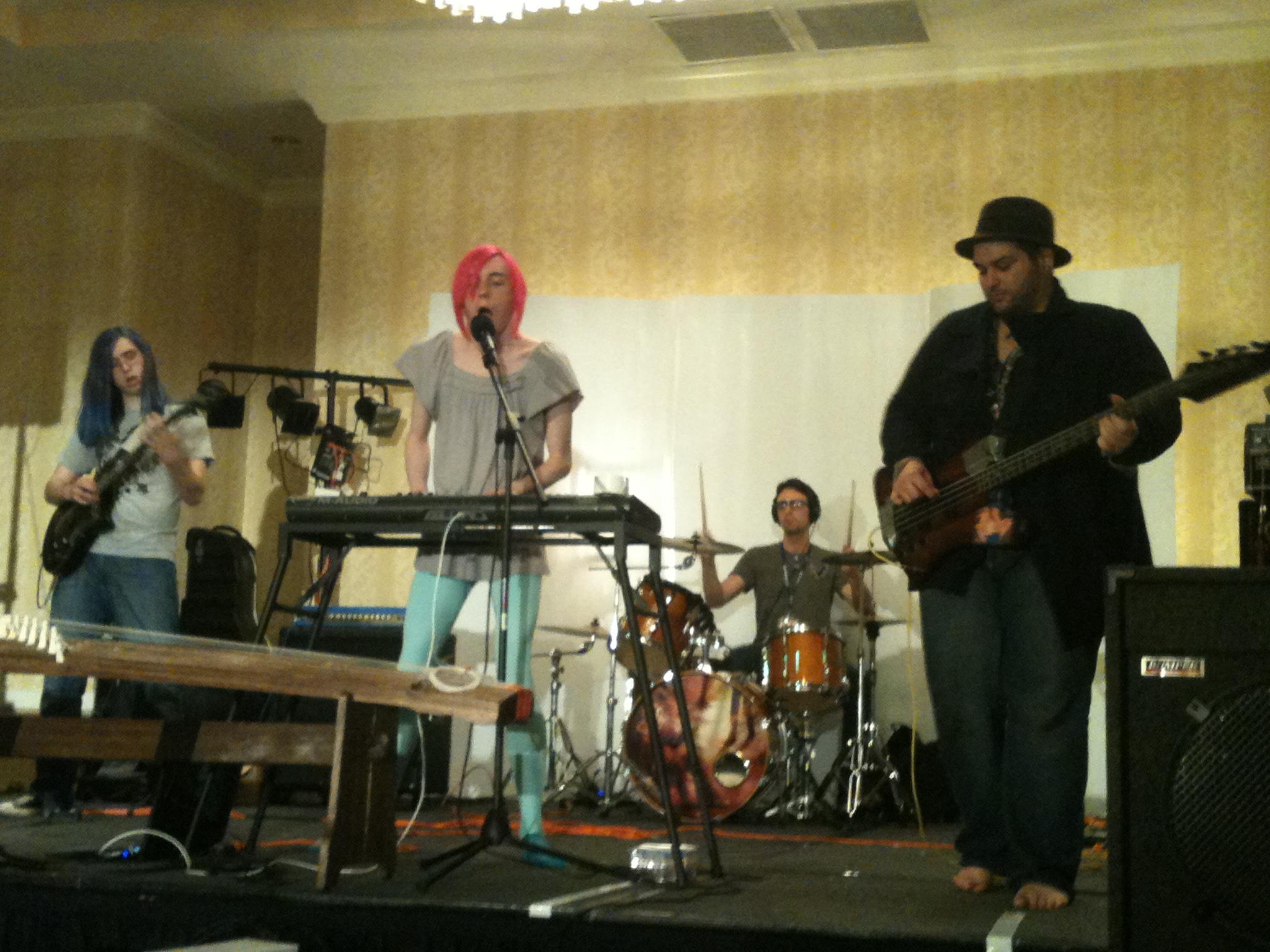S.S. HANAMI -- the full band! Photo by Amanda Manzanares