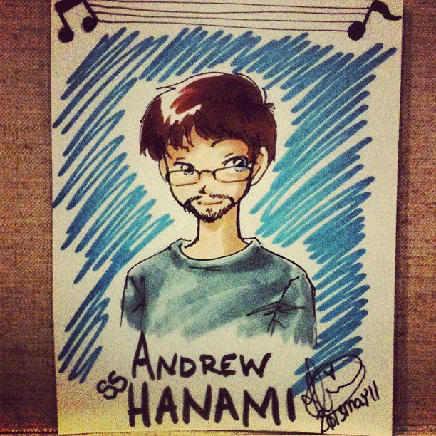Beth [ hikaroo.deviantart.com ] drew custom badges for us at BelleCon. Here's Andrew