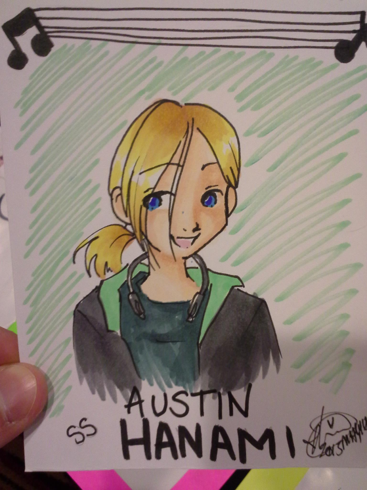 Beth [ hikaroo.deviantart.com ] drew custom badges for us at BelleCon, including our manager Austin