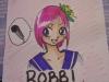 Beth [ hikaroo.deviantart.com ] drew custom badges for us at BelleCon. Here's Robbi