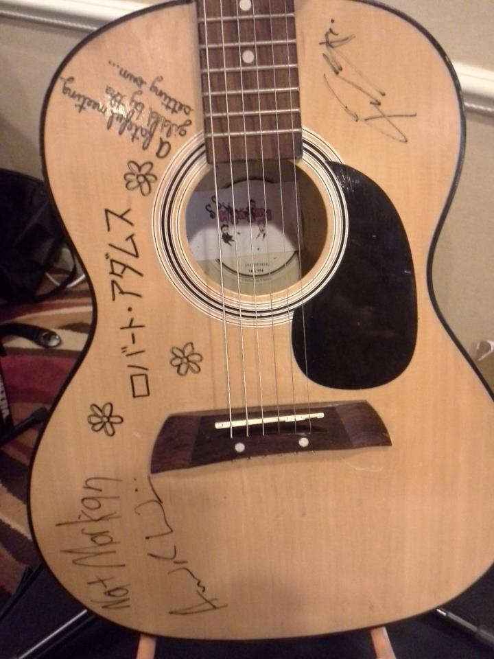 Signed guitar - raffled off at BelleCon 2013